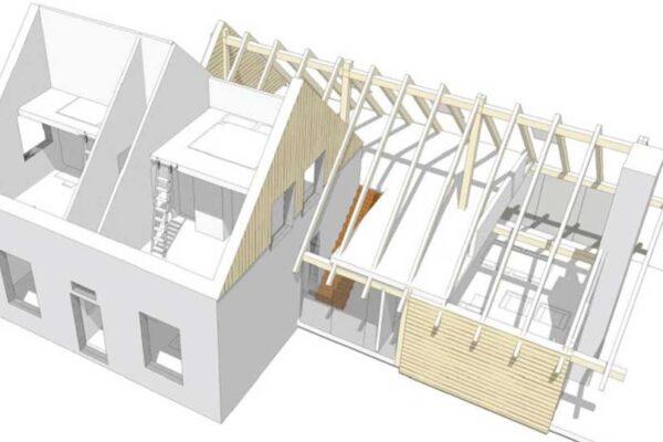 Loftwoning aanbouw – 3729
